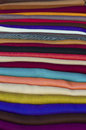 Colourful scarves Stock Images