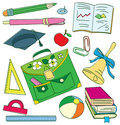 Colourful school doodle Stock Photo