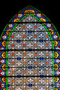 Colourful seamless stained glass in chusclan france window panel Royalty Free Stock Image