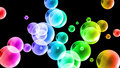 Colourful shining bubbles background abstract Stock Photos