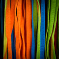 Colourful shoelaces for background and copy space Stock Images