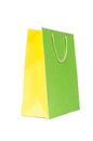 Colourful shopping bags isolated on white Royalty Free Stock Images