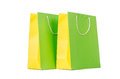 Colourful shopping bags isolated on white Stock Photo