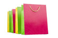 Colourful shopping bags isolated on white Royalty Free Stock Photo