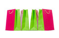 Colourful shopping bags isolated on white Royalty Free Stock Photos