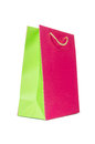 Colourful shopping bags isolated on white Royalty Free Stock Photography