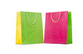 Colourful shopping bags isolated on white Stock Photography