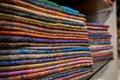Colourful silk scarfs