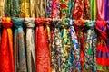 Colourful Silk Scarfs At A Mar...