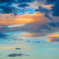 Colourful sky clouds in the in late afternoon Stock Photos