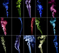 Colourful smoke collection 3 Royalty Free Stock Images