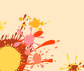 Colourful splat design Stock Photography