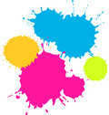 Colourful Splatters Royalty Free Stock Photography