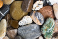 Colourful stones background composition of wet Royalty Free Stock Photos