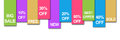 Colourful stripe banner sale a horizontal image with and various store text Royalty Free Stock Image