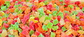Colourful sugar coated jelly sweets on the market Stock Images