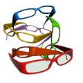 Colourful sun glasses on white background Stock Photography
