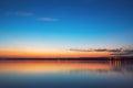 Colourful sunset over lake Royalty Free Stock Photo