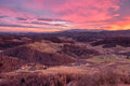 Colourful Sunset From Plač Tower Royalty Free Stock Photo