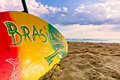 Colourful Surboard Brasil Design Stock Photo
