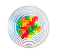 Colourful sweets in glass bowl Royalty Free Stock Photos