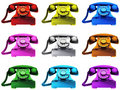 Colourful Telephones Royalty Free Stock Photo