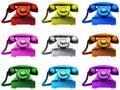 Colourful Telephones