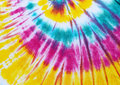 Colourful tie dyed pattern background dye hand on cotton fabric abstract Royalty Free Stock Photos
