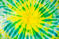 colourful tie dyed pattern on cotton fabric Royalty Free Stock Photo