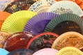 Colourful traditional spanish fans Royalty Free Stock Photo