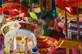 Colourful Vietnamese temple decoration / lanterns Royalty Free Stock Photo