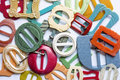 Colourful vintage belt buckles 2 Royalty Free Stock Photo