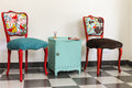 Colourful Vintage French Chairs