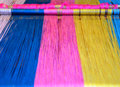 Colourful weaving closeup of loom Royalty Free Stock Image