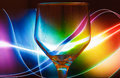 Colourful Wine Glass Abstract Background