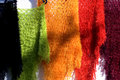 Colourful woolen shawls Royalty Free Stock Image