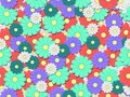 Colourfull flower background tile Stock Images