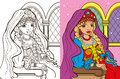 Colouring Book Of Russian Princess