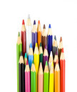 Colouring pencils isolated on white Stock Images