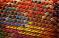 Colouring pencils texture all lined up to create a Royalty Free Stock Image