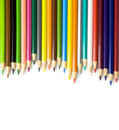 Colouring pencils on white background Royalty Free Stock Photo