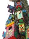 Colours bird boxes Royalty Free Stock Photo