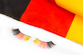 Colours of germany fan objects in the national flag Royalty Free Stock Image