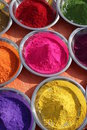 Photo : Colours of India map  in