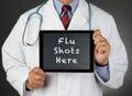 Colpi del dottore tablet computer flu Fotografie Stock