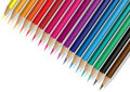 Colrful pencils background Royalty Free Stock Images
