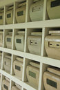 Columbarium at a cemetery public storage of cinerary urns Stock Photos