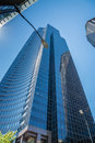 Columbia center from street view of sidewalk Royalty Free Stock Photos