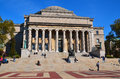 Columbia university library new york city oct and statue of alma mater new york ny on otc it is the oldest institution of higher Royalty Free Stock Photography