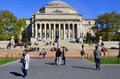 Columbia university new york city oct library and statue of alma mater new york ny on otc it is the oldest institution of higher Stock Photos